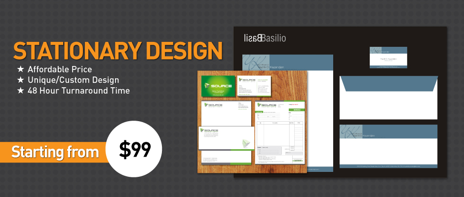 Stationary Design Banner