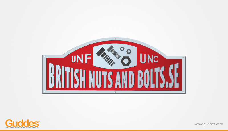 British nuts and bolts Logo Designs