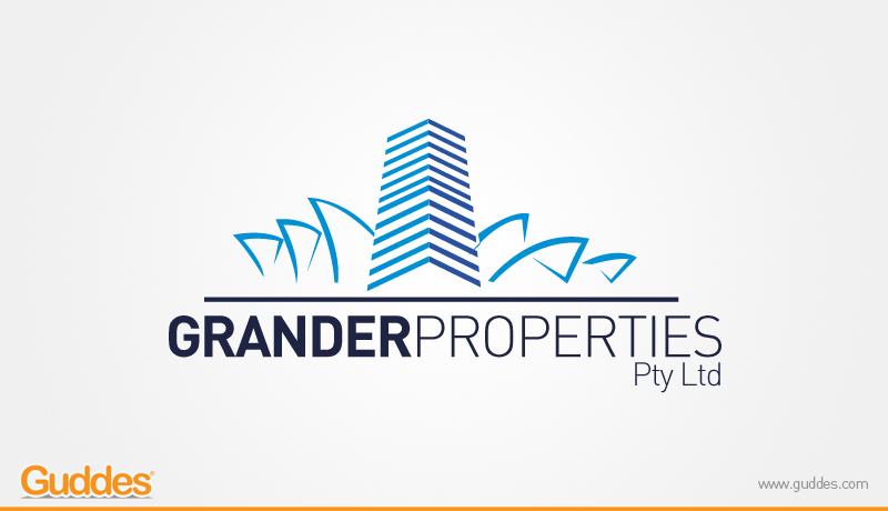 Grander Properties Logo Design