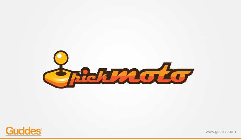 Pickmoto Logo Design