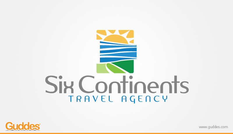 Six continents Travel agency Logo Design